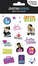 Official Justin Bieber - I Love JB - Glitter Sticker Pack