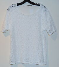 New womens Generation Love Lace top Blouse Shirt Top size Large White
