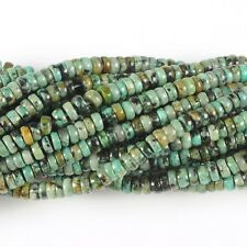 """0118 4mm African turquoise heishi rondelle loose gemstone beads 16"""""""