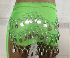 BELLY DANCE DANCING Silver COIN BELT WRAP HIP SCARF SKIRT WHOLESALE lots PRICE