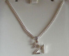 Special age Necklace on gift card 13th.16th.18th.21st.30th.40th.50th BIRTHDAY