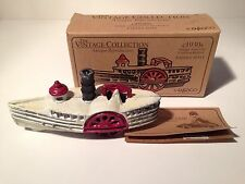 Enesco Antique American Cast Iron Paddle Boat Replica w/ box