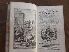 L'ECOLE DU JARDIN POTAGER... DESCRIPTION exacte Plantes Potageres....Tome I/2