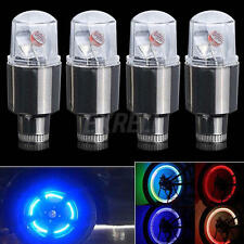 4pcs Car Motorcycle Wheel Tire Tyre Valve Cap Spoke Neon LED Flash Light Lamp