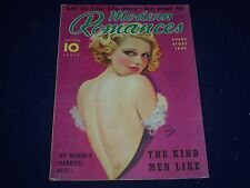 1936 OCTOBER MODERN ROMANCES MAGAZINE - PHOTOS - COVER BY EARL CHRISTY - J 1283