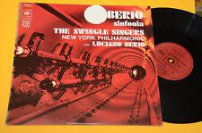 LUCIANO BERIO LP SINFONIA 1°ST ORIG FRANCIA EX AVANTGARDE EXPERIMENTAL