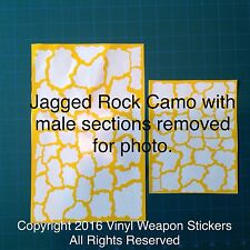 Jagged Rock Camo vinyl stencil For Duracoat, Cerakote, Krylon, New Design!
