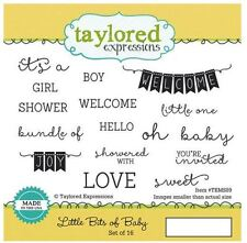Taylored Expressions Rubber Cling Stamp Set ~ LITTLE BITS OF BABY   ~TEMS89