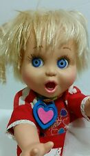 """1990 GALOOB 13"""" VINTAGE  BABY FACE DOLL #2 SO SURPRISED SUZIE + CLOTHES SHOES"""