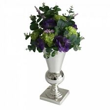 Stunning  Silver Iron Luxury Vase Urn Wedding Table Centrepiece 31cm EF