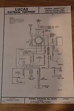 Triumph Radio T110 1955 Lucas Electrical Equipment Original Wiring Diagram
