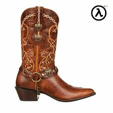 CRUSH BY DURANGO WOMEN'S HEART CONCHO WESTERN BOOTS DCRD180 * ALL SIZES M6-11