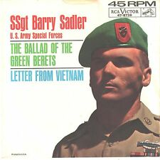BARRY SADLER--PICTURE SLEEVE ONLY--(BALLAD OF THE GREEN BERET)--PS--PIC--SLV
