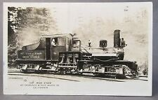 1928 IRON STEED MT TAMALPAIS & MUIR WOODS Railway California Real Photo postcard