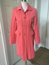 """Talbot's Small SALMON COLOR RAIN OR ALL WEATHER COAT 36"""" Long/Cotton/Blend/Lined"""