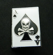Ace of Spades Skull Biker Lapel Jacket Hat Pin 1 inch