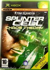 SPLINTER CELL - CHAOS THEORY jeu video pour console X-BOX en boite game bon état