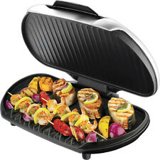 George Foreman Family Size Indoor Electric Grill, GR144 Large Platinum Grille