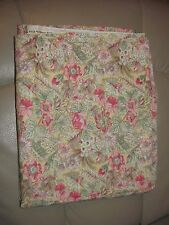 Joan Kessler for Concord Fabrics Beige Floral Print Cotton Fabric 2 Yards NEW