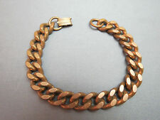 """Vintage Marked Solid Copper Link Bracelet Chain Curb Style 58 Grams 8.5"""" Unisex"""