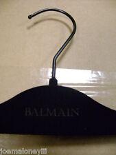 """BALMAIN DESIGNER 14 1/2"""" PANT SKIRT ADJUSTABLE BLACK VELVET FELT HANGERS  SET 50"""