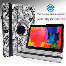 "For SAMSUNG GALAXY NOTE Pro 12.2"" PU Leather CASE COVER 360 ROTATING STAND NEW"