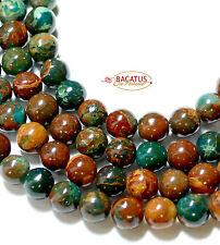 Afrikanischer blauer Opal braun-grün 8mm Perlen, 1 Strang *BACATUS* #4048