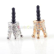 2pcs Crown 3.5mm Anti Dust Earphone Plug Cover Stopper Cap For Phone HTC
