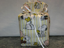 Charlie Brown Snoopy Peanuts on cotton Fabric Handmade Square Tissue Box Cover