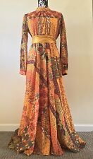 RARE Boho Vintage 70s Floral Wedding Dress Long India Festival Ethnic Vtg Hippie