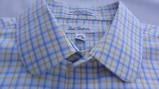 EUC Paul Fredrick Easy Care Traditional Round Tip Collar Dress Shirt Size 17-36