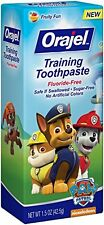 Orajel Toddler Training Toothpaste Paw Patrol Tooty Fruity Flavor 1.50oz Each