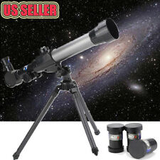 US Adjustable Pro 60mm Kids Astronomical Refractor Telescope Tripod 3x Eyepiece