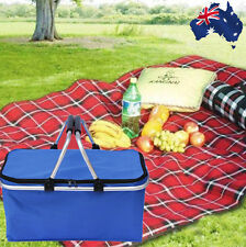Insulated Picnic Basket Portable Insulated Cooler Outdoor Carry Bag  HBASK 8976