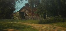 American Artist Listed Jim Daly Original Oil Painting Country Rural Americana