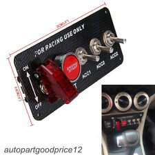 5in1 Car Racing Engine Ignition Start Push Button LED Toggle Switch Carbon Panel