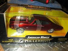 69 oldsmobile 442 W-30 millennium AMERICAN MUSCLE 1/18 BURGANDY chrome CHASE
