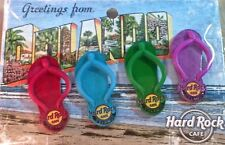Hard Rock Cafe ORLANDO 2014 FLIP FLOPS Guitars 4 PIN SET on Greetings From CARD