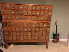 antique library card catalog