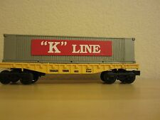 K-line 6611 Trailer Train Flat  Car w/ container load kline box