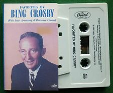 Bing Crosby Favorites + Louis Armstrong & Rosemary Clooney Cassette Tape TESTED