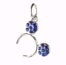 1pcs Silver mouse CZ blue Charm Beads Fit European Charm Bracelet Pendant U391