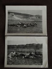 2 VTG 1950  PHOTOS OF MOBILE TRAILER HOME BURNED DOWN TO THE GROUND