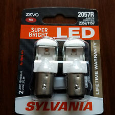 Sylvania RED ZEVO SUPER BRIGHT LED Lamps Bulbs 2057R 2357 1157 OSRAM FREE SHIP