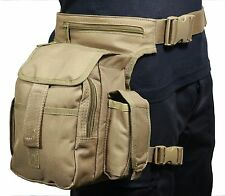 Borsa militare/moto Zaino Cosciale Tactical Girovita Multi Pack HIP BAG coyote