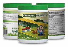 Chlorella Powder - ORGANIC GREENS POWDER BERRY 276g - Full Body Detox 1C