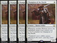 XXX 4x CHAMPION OF THE PARISH englisch blessed vs. cursed (human soldier) NM