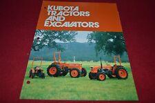 Kubota Tractors & Excavators For 1982 Buyers Guide Dealers Brochure DCPA2