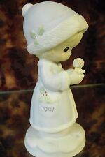 """Precious Moments #524166 """" May Your Christmas Be """" 1991 Dated-FIGURINE- NIB"""