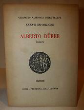 Arte Catalogo, XXXVII Esposizione Alberto Durer incisore 1953 Farnesina Roma